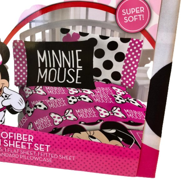 Disney Minnie Mouse Microfiber Twin Sheet Set